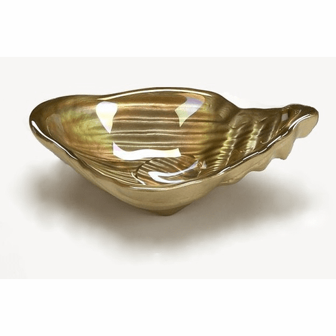 "Conch Shell 5.5"" Gold Luster Bowl Set of 4"