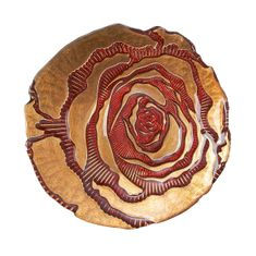 "Country Rose Canape plate 6.5"" Red Gold TWO SIZES"