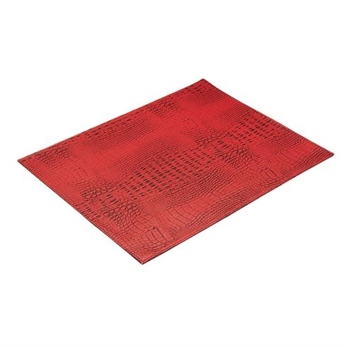 "Crock 13x18"" Placemat Coral Red Set of 4"