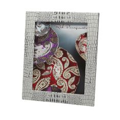 "Crocodile Texture Two Tone Grey 8x10"" Photo Frame"