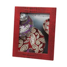 """Crocodile Texture Two Tone Coral Red 8x10"""" Photo Frame"""