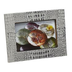 "Crocodile Texture Two Tone Grey 5x7"" Photo Frame"