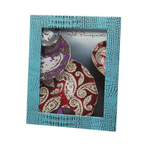 "Crocodile Texture Two Tone Turquoise 8x10"" Photo Frame"