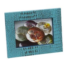 "Crocodile Texture Two Tone Turquoise 5x7"" Photo Frame"