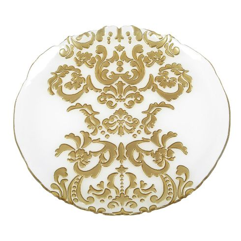 Damask Gold Charger Plate