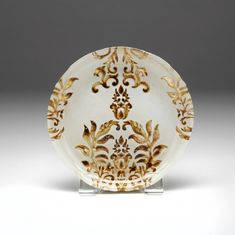 "Damask Ivory  Gold Canape Plate 6.5""                 SEE OTHER SIZES"