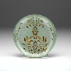 "Damask Turquoise Gold Canape Plate 6.5""  SEE OTHER SIZES"