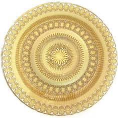Florence Gold Charger Plate Set/2