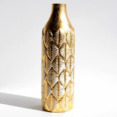 FOLIO Gold Gilded Ceramic Vase