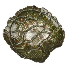 Giant Sea Turtle Bowl Green Gold