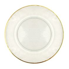 "Gilt 13"" Gold Rim Hammered Charger Plate"