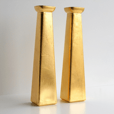 GILT Set/2 Bud Vases