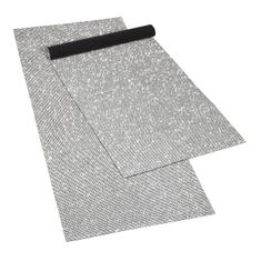 "Rhinestone 16x41"" Table Runner Silver"