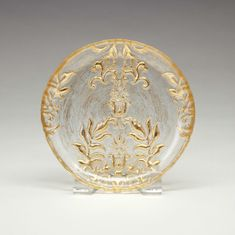 Gold Damask Canape plate