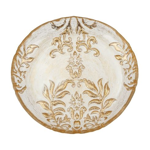"Gold Damask 8.5"" Salad Plate"
