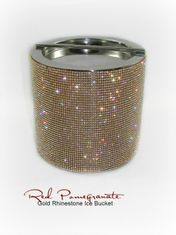 Gold Rhinestone Ice Bucket