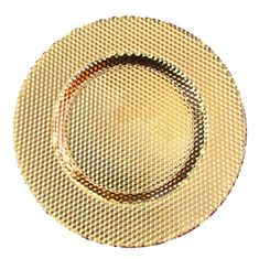 "ILLUSION 13"" CHARGER PLATE GOLD"