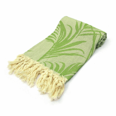 JUNGLE 100% Jacquard Turkish Cotton Pestemal Bath & Beach Towel Green