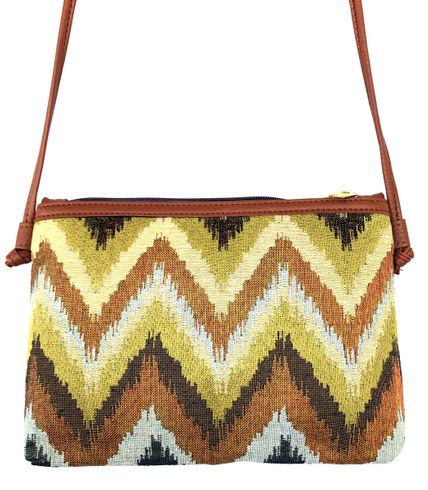 "JUNGLE CHEVRON 12"" CROSSBODY BAG"