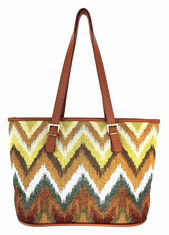 "JUNGLE CHEVRON 13"" TOTE BAG"