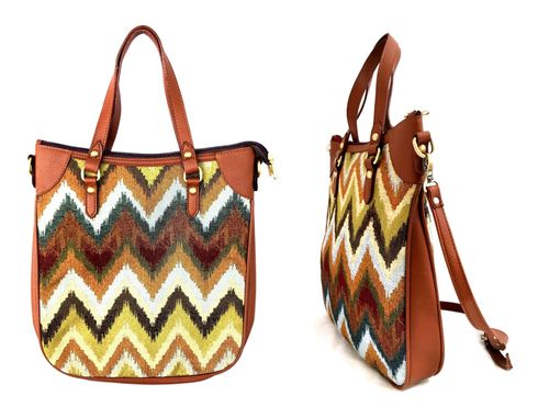 "JUNGLE CHEVRON 15"" HOBO SHOULDER BAG"