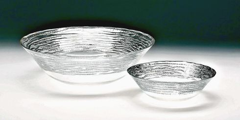 "Magara 12"" Deep Bowl Silver Rim"