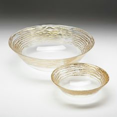"Magara 12"" Deep Bowl Gold Rim"