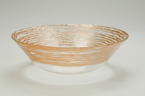 "Magara 7"" Bowl Gold Rim"