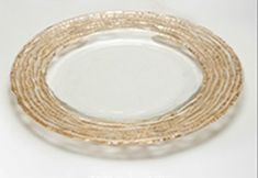 "Magara 8"" Salad Plate Gold Rim"