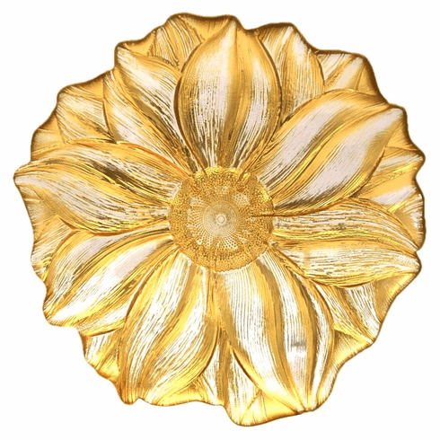"MAGNOLIA 11"" Gold Serving Plate"