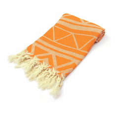 MARRAKECH 100% Jacquard Turkish Cotton Pestemal Towel Orange