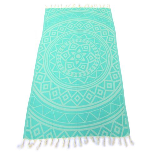 MARRAKECH 100% Jacquard Turkish Cotton Pestemal Sea Green