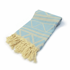 MARRAKECH 100% Jacquard Turkish Cotton Pestemal Towel Light Blue