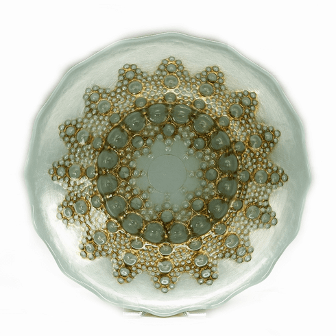 """Moroccan 7"""" Turquoise Gold Bowl"""