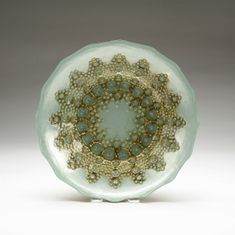 Moroccan Turquoise Gold Bowl 12""