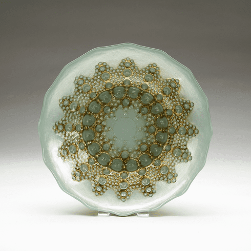 """Moroccan Turquoise Gold Bowl 12"""""""