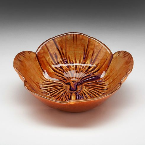 Pansy Bowl Copper Purple