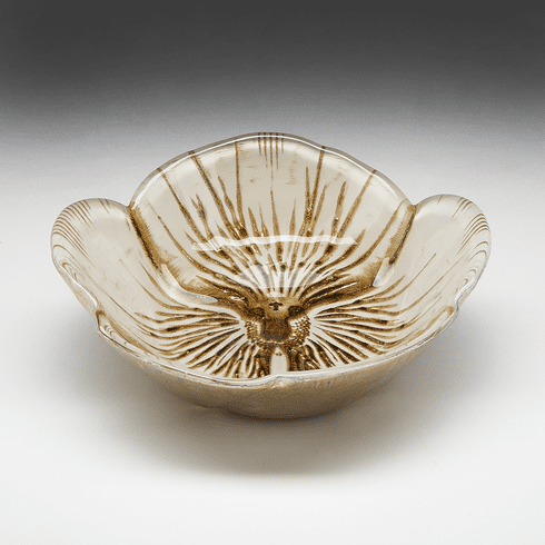 Pansy Bowl Ivory Gold