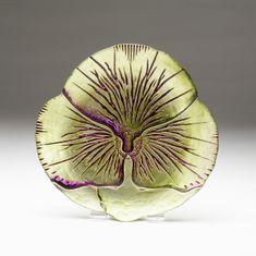 "Pansy Canape Plate Green Purple 6.5"" SEE OTHER SIZES"