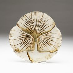 "Pansy Canape Plate Ivory Gold 6.5""   SEE OTHER SIZES"