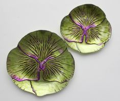 Pansy Green Purple Dinner Plate 11""