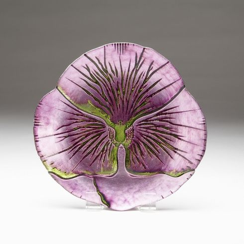 Pansy Green Purple Salad Plate 8.5""