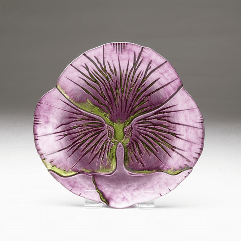 """Pansy Purple Green Plate 6.5""""  SEE OTHER SIZES"""
