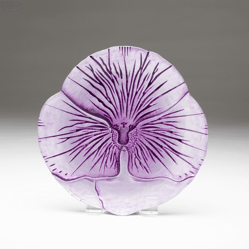 Pansy two tone purple canape plate  SEE OTHER SIZES