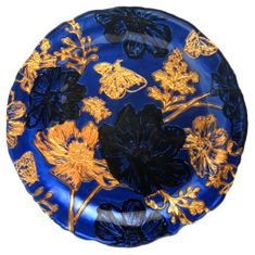 "PAPILLON 8"" Blue Side Plate"