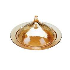 Rabat Covered small plate Amber color