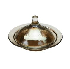 Rabat Small Covered Plate Smoke Color