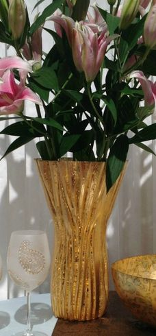 Ribbon Tall Vase 15.5""