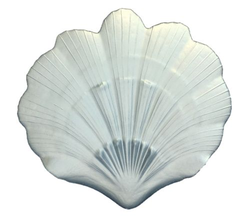 "Scallop Shell 8"" Silver Plate Set of 2"