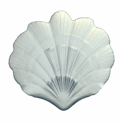 """Scallop Shell 8"""" Silver Plate Set of 2"""